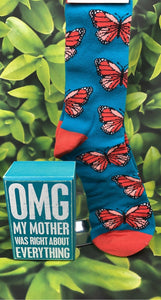 OMG Mother Right Sign & Sock Set