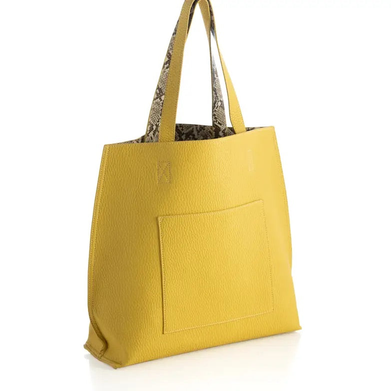 Daria Reversible Tote Yellow