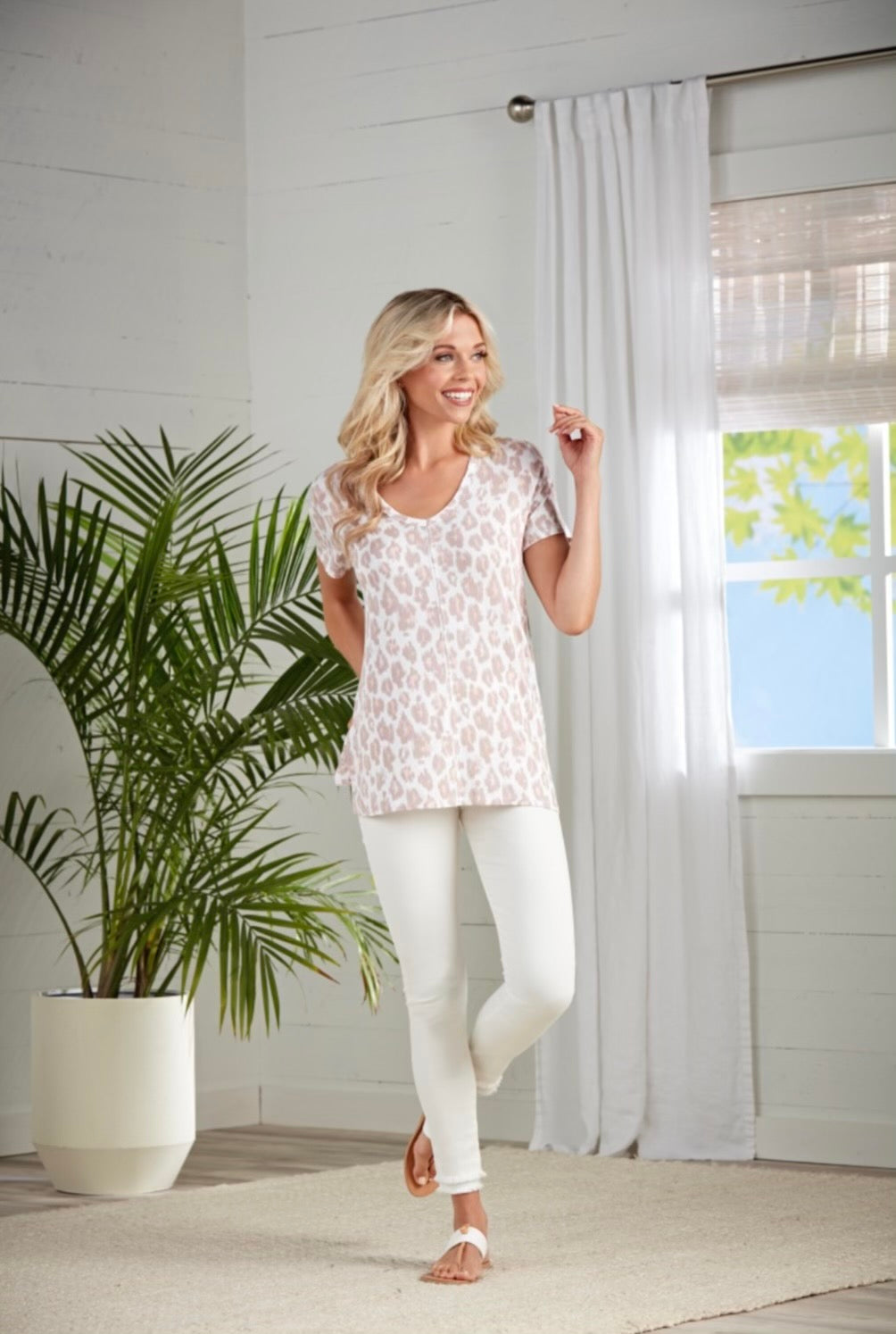 Blush Leopard Soft T