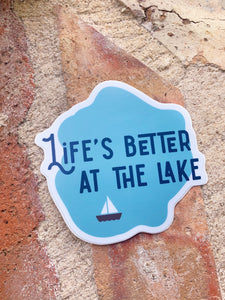 Better at the Lake Sticker