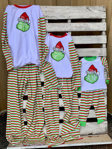 Kids Grinch PJs Adult M