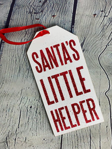 Santas Little Helper Bottle Tag