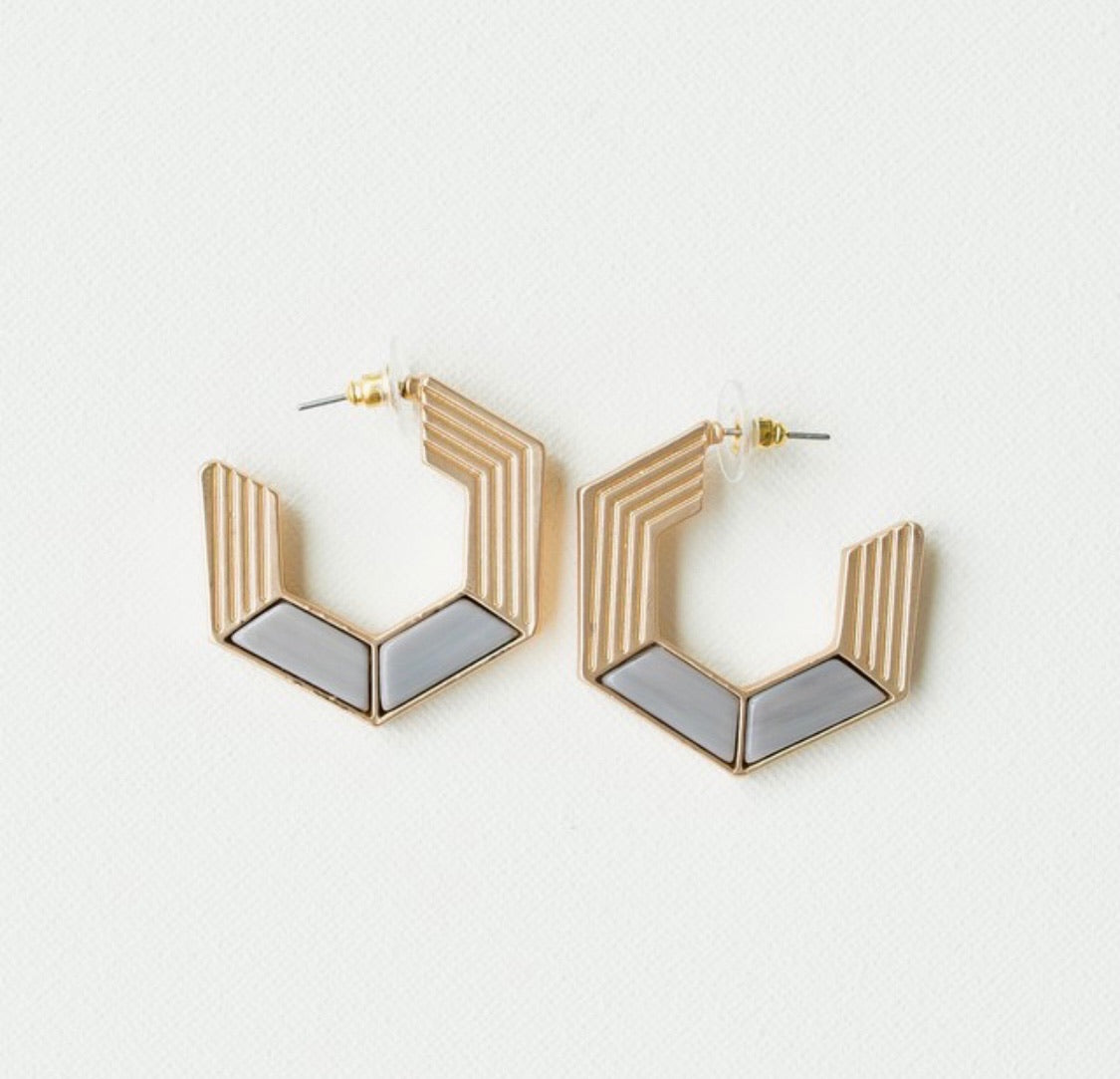 Gray Harlow Earrings