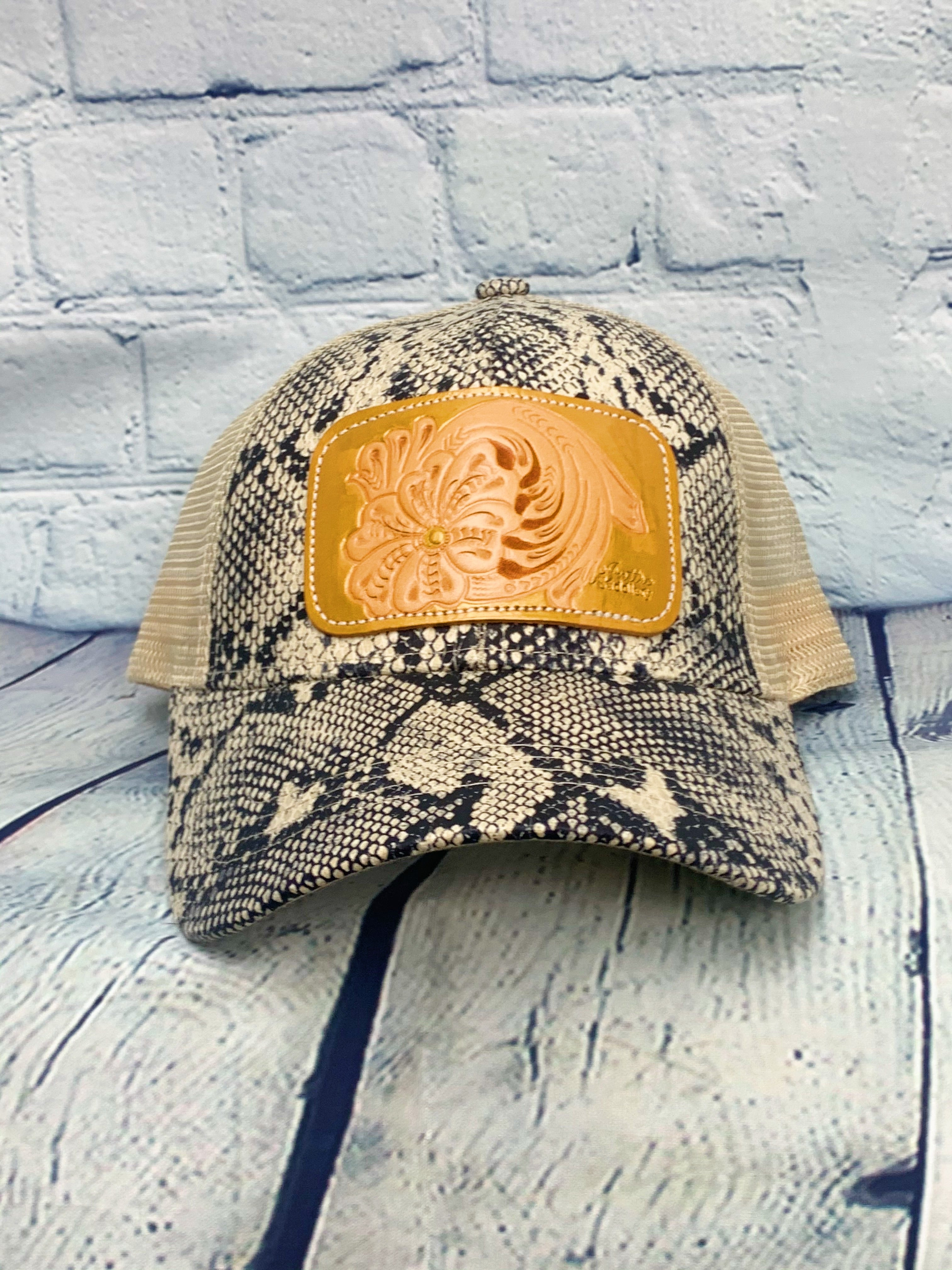 Snake Tool Gold Ponytail Leather Patch MS Hat