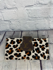 Leopard Hair LV Upcycled Wallet