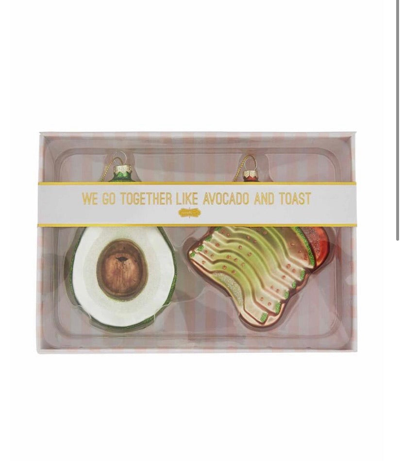 Avocado Ornament Set
