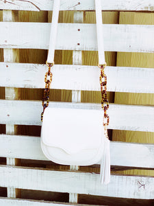 White Resin Link Crossbody