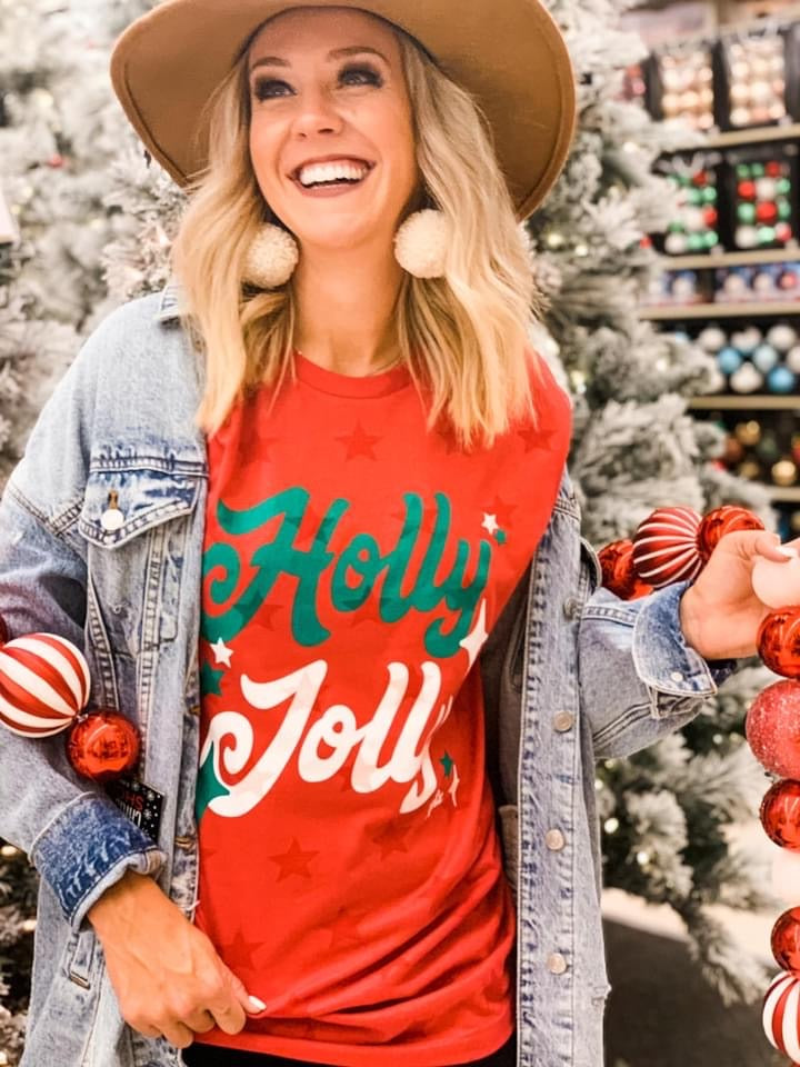 Holly Jolly Stars Tee