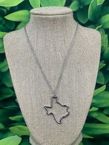 Silver Large Open Texas Necklace