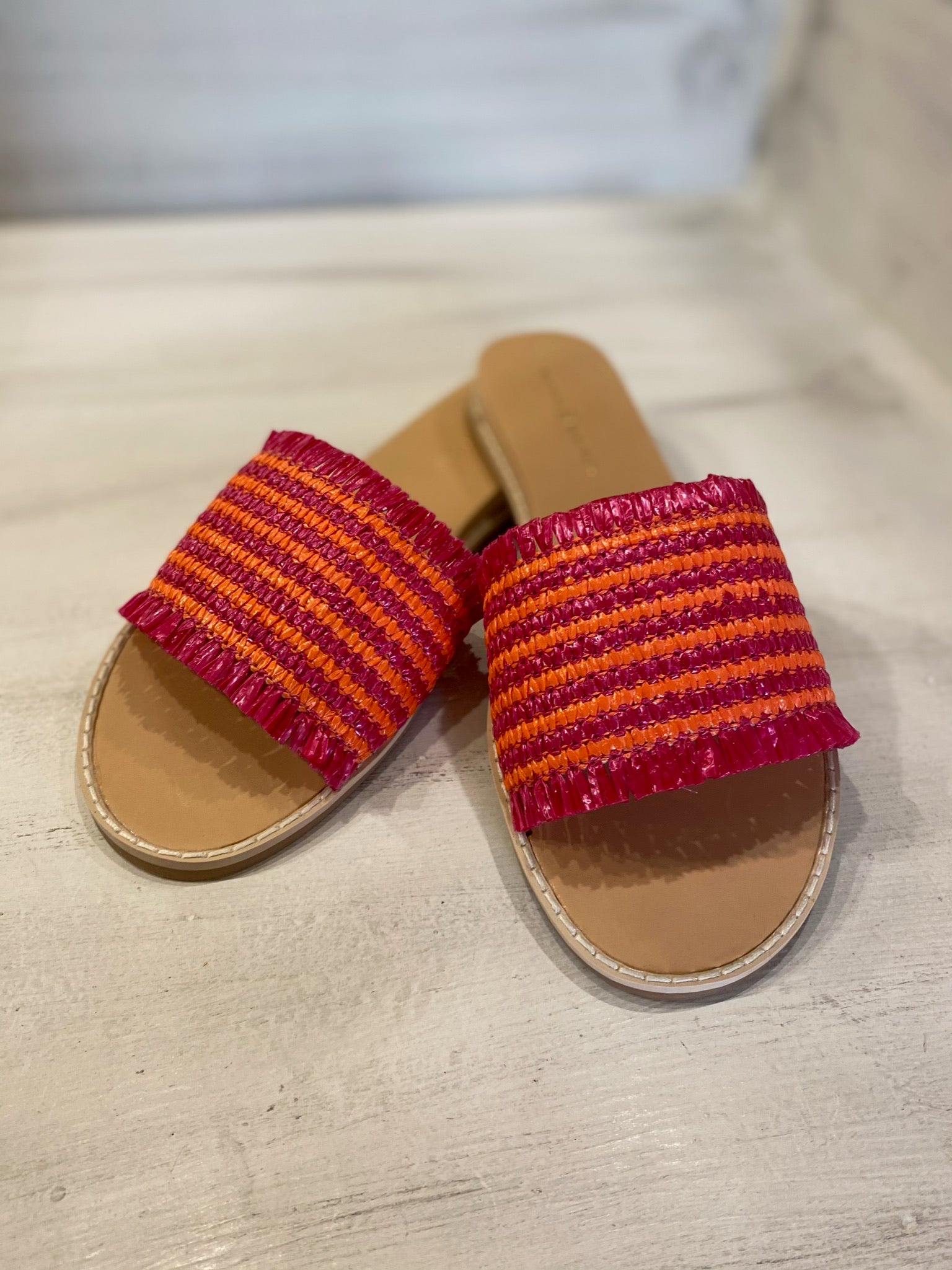 Pink/Orange Straw Slide