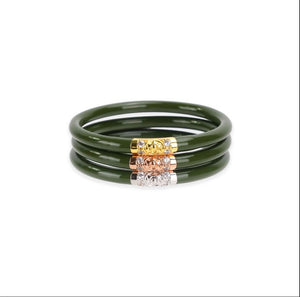 Jade Three Kinds BuDha Girl Bangles M