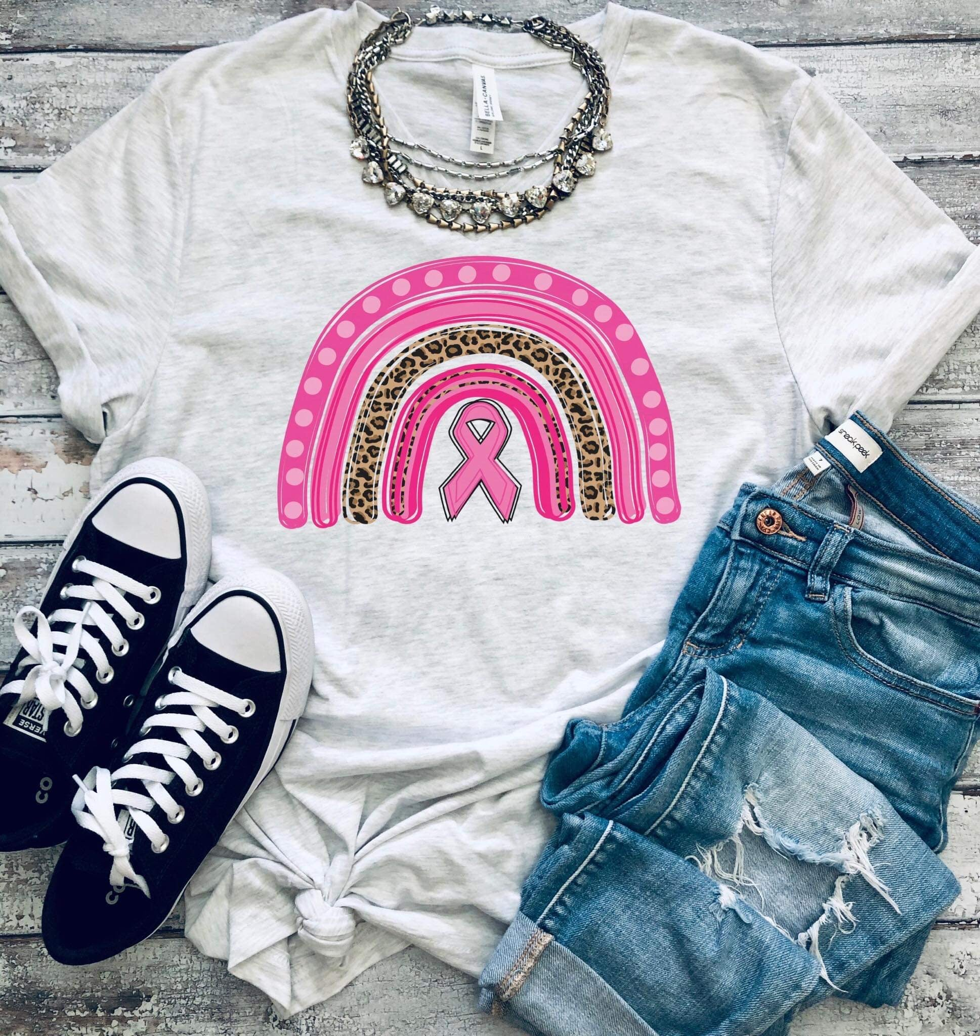 Rainbow Breast Cancer Tee