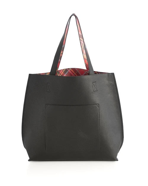 Holly Reversible Tote Black