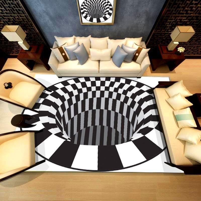 Handcrafted 3D Illusion Vortex Rug ✨ HOT SALE 50% OFF TODAY ONLY! ✨