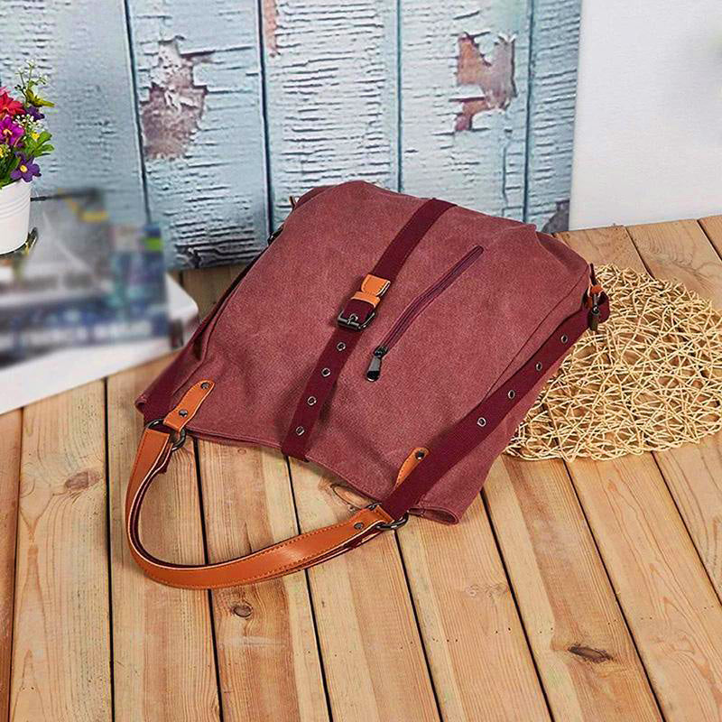 ✨ 50% OFF TODAY ✨ Canvas Backpack-Shoulder Bag With Extra Large Capacity [BUY 2 OR MORE FREE SHIPPING]