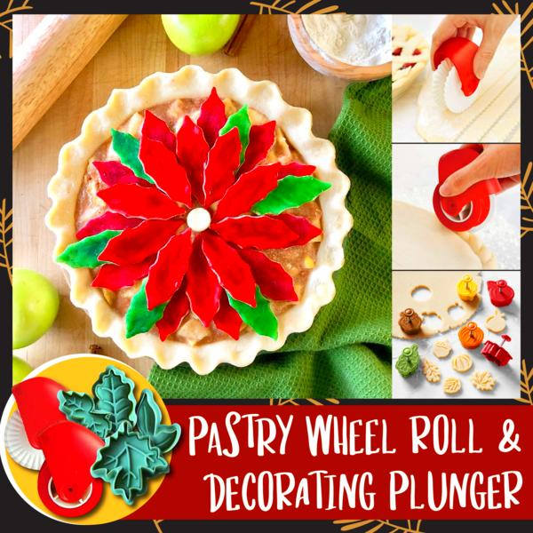 Pastry Wheel Roll and Decorating Plunger  ✨ HOT SALE 50% OFF TODAY! ✨
