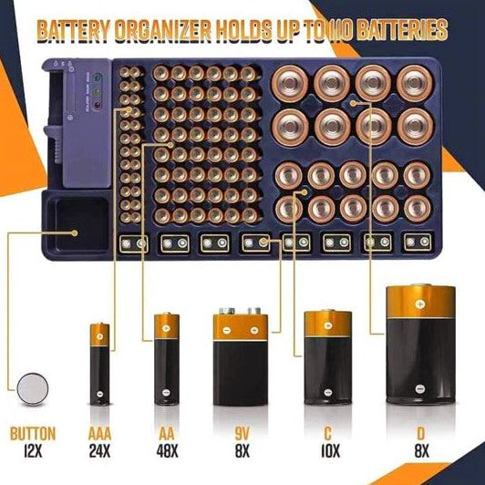 BattOrg™ Battery Organizer with Energy Tester® ✨ HOT SALE 50% OFF TODAY! ✨