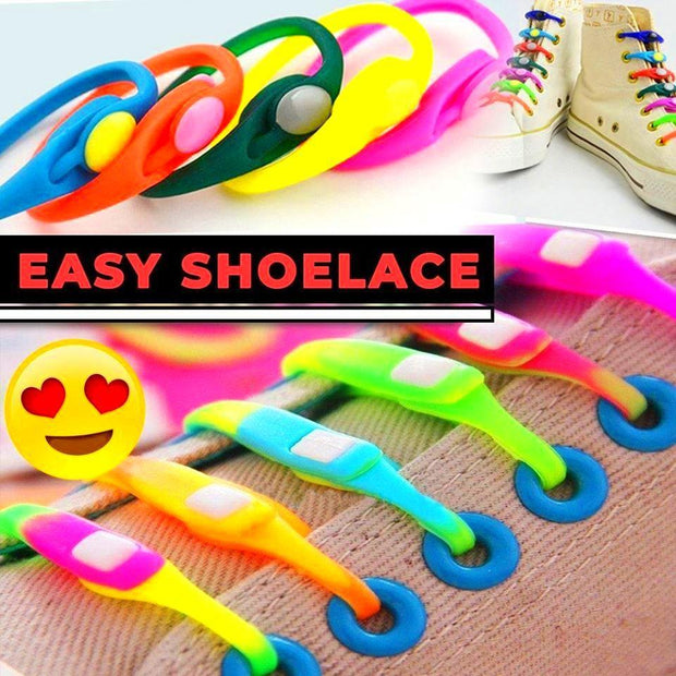 Easy and Cool Silicone Shoelaces (One Size Fits All) - LIMITED STOCKS LEFT!