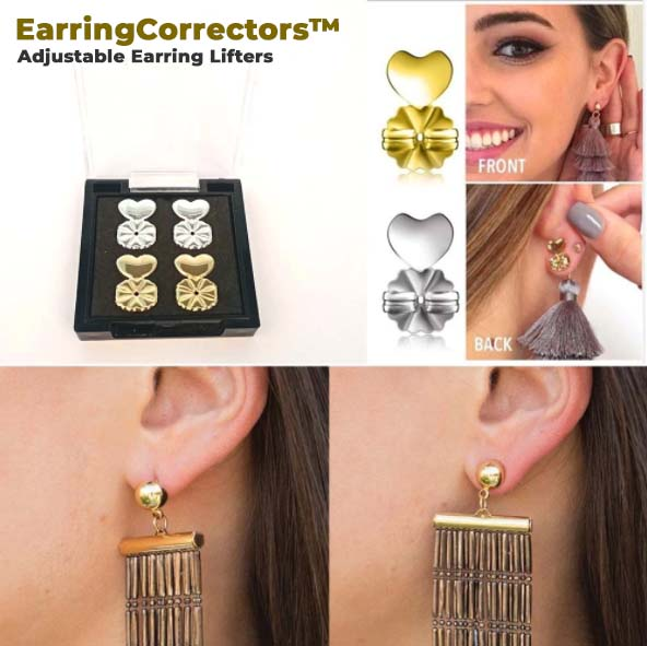 EarringCorrectors™ Adjustable Earring Lifters ✨ Buy 1 Pair Get 1 Pair FREE! ✨