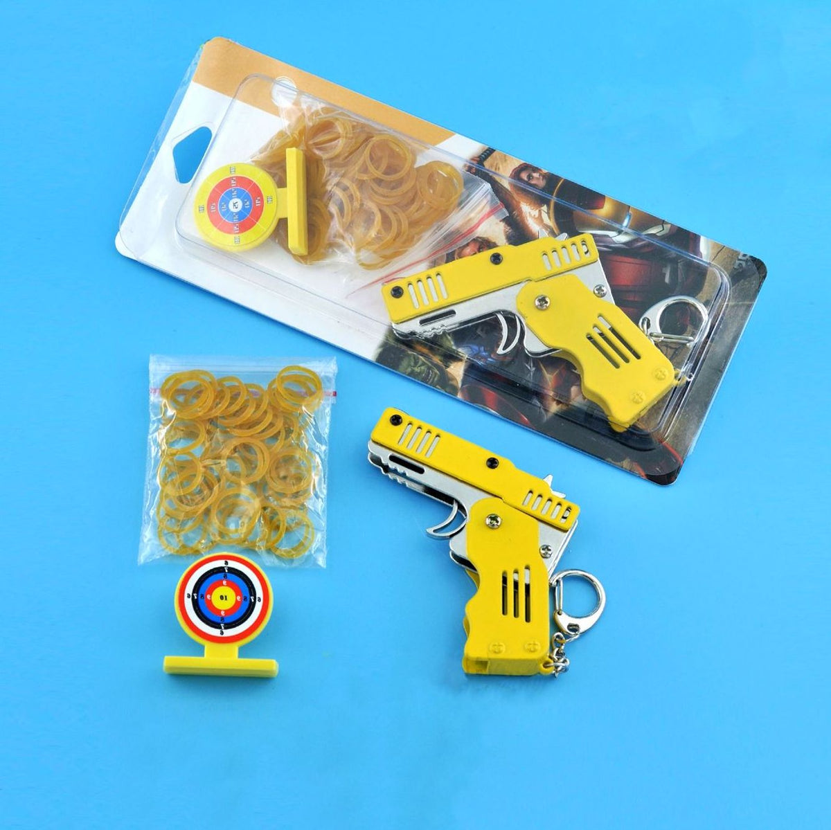 All Metal Mini Folding Rubber Band Gun Toy Keychain ✨ HOT SALE! ENDING TODAY! ✨
