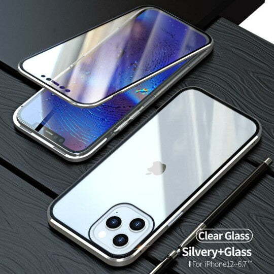 ClearGlass™ Magnetic Privacy Glass Case for iPhones ✨ Biggest Sale Ever ✨