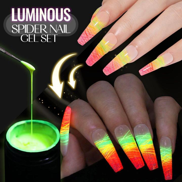 ✨ HOT SALE - 50% OFF LIMITED TIME! ✨ Luminous Spider Nail Gel Set