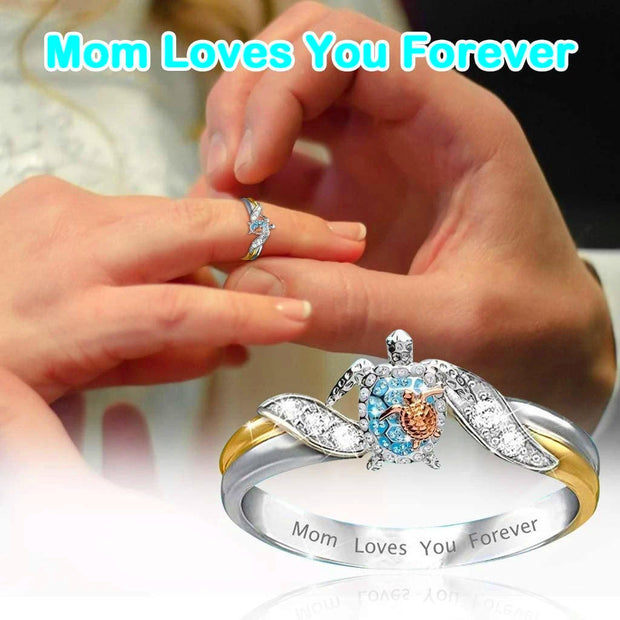 Mom Loves You Forever Turtle Statement Ring ✨ HOT SALE 50% OFF TODAY! ✨