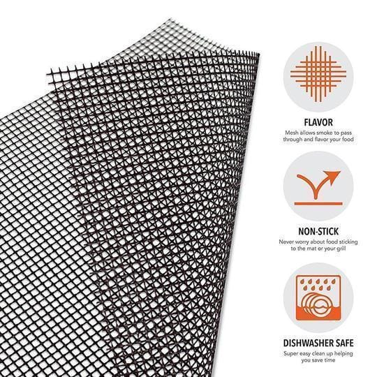 Non-stick BBQ Grill Mesh Mat For Grilling Like A Pro With Easy Cleaning