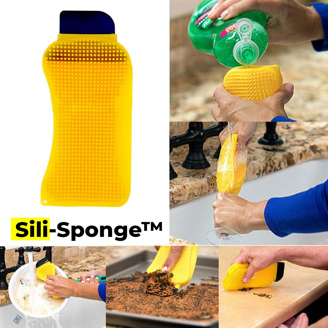 Sili-Sponge™ 3-in-1 Premium Silicone Kitchen Sponge ✨ HOT SALE 50% OFF TODAY! ✨