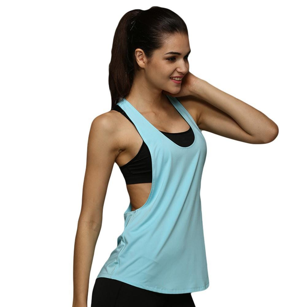 2017 Hot Sale Summer Women Tank Tops Casual Loose Fitness Sleeveless Vest Quick Dry T-shirt
