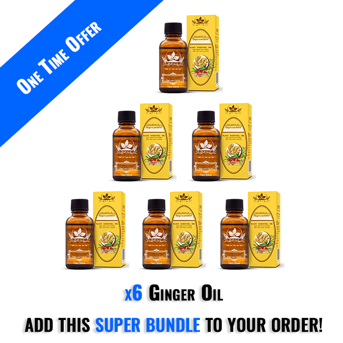 6 Ginger Oils - One Time Offer