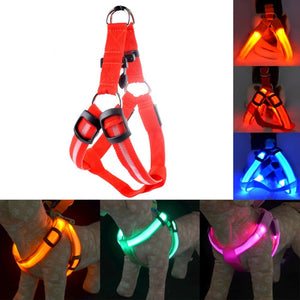 SAFETY LED DOG HARNESS – USB RECHARGEABLE WITH WATER RESISTANT FLASHING LIGHT - NEW BOGO DEAL GOING ON NOW- ADD ANY 2 TO YOUR CART AND THE DISCOUNT IS AUTOMATICALLY APPLIED!!!!!
