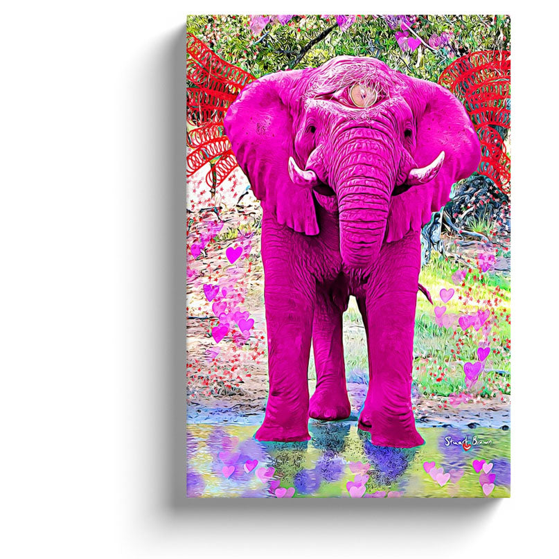 all knowing pink love elephant