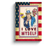 american flag art i love myself uncle same recruitment canvas print