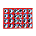 andy warhol style polka dot cows wall art print
