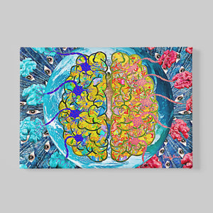 brain on fire wall art print