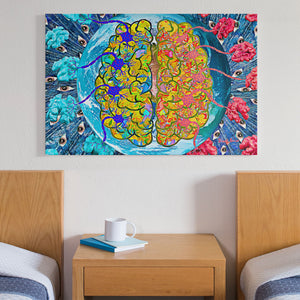 brain wall art