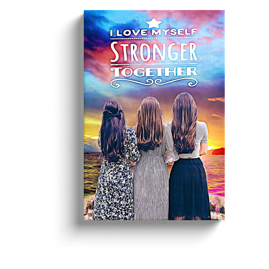 feminine energy art i love myself stronger together print