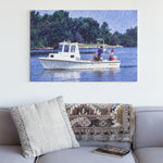 fishing boat canvas art