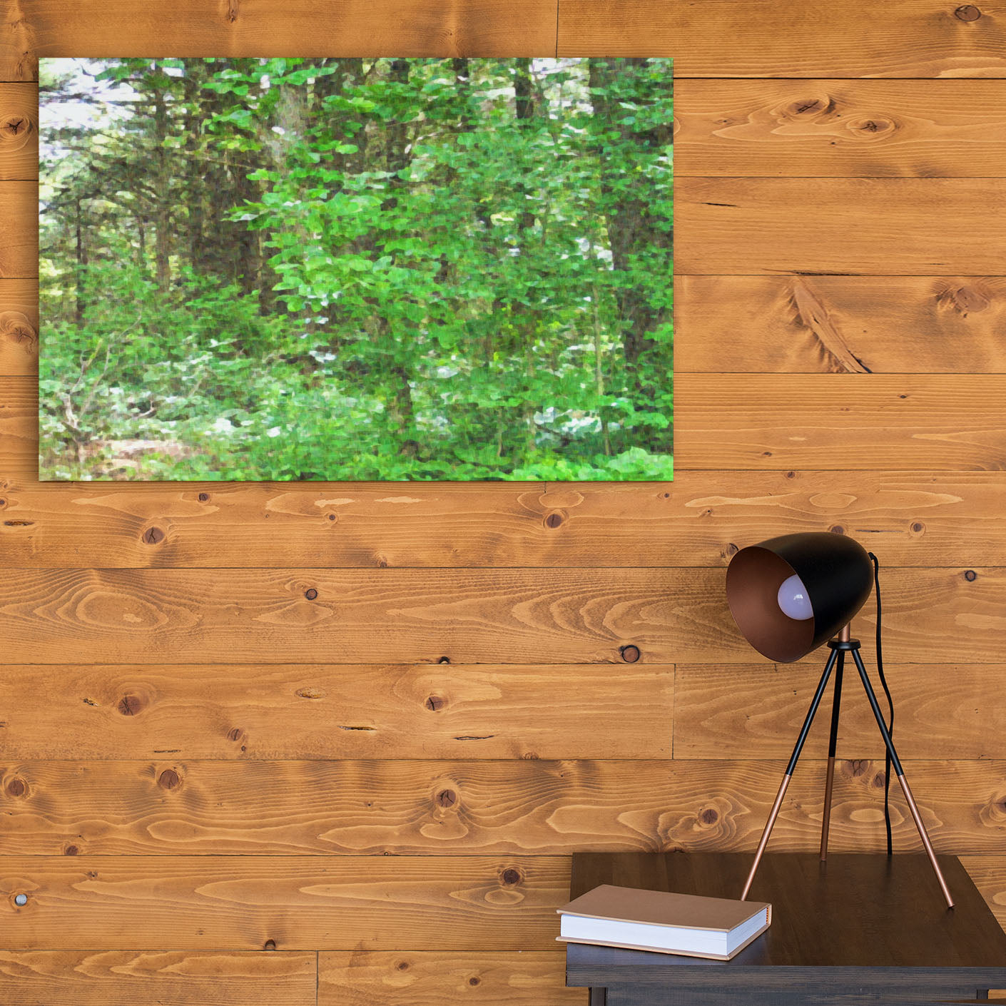Tree Wall Art - Forest Decor - Beneath a Forest Canopy Canvas Print