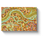 gold dragon art twisting golden dragon canvas print