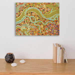gold dragon wall art