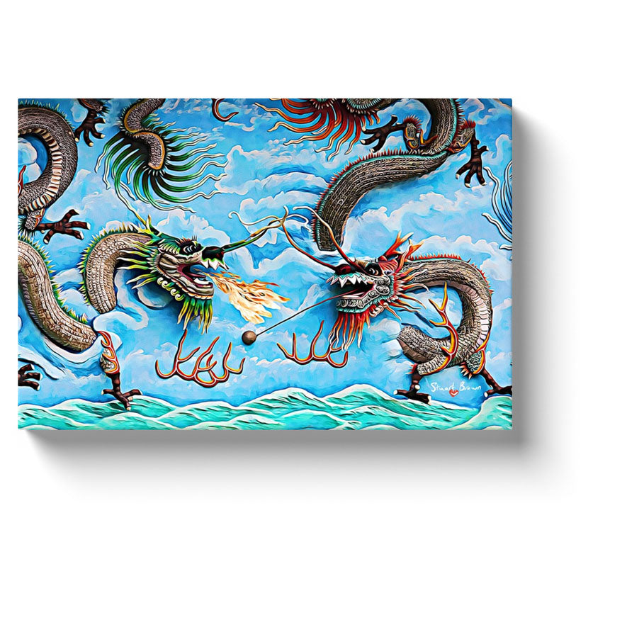 gray dragon art two dragons fighting above a boiling green sea