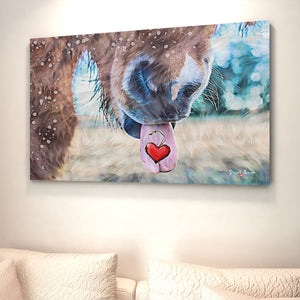 heart canvas print