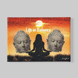 life in balance wall art canvas print