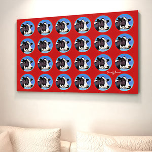 modern wall art polka dot cows pop art print