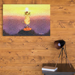 mountain yoga wall art