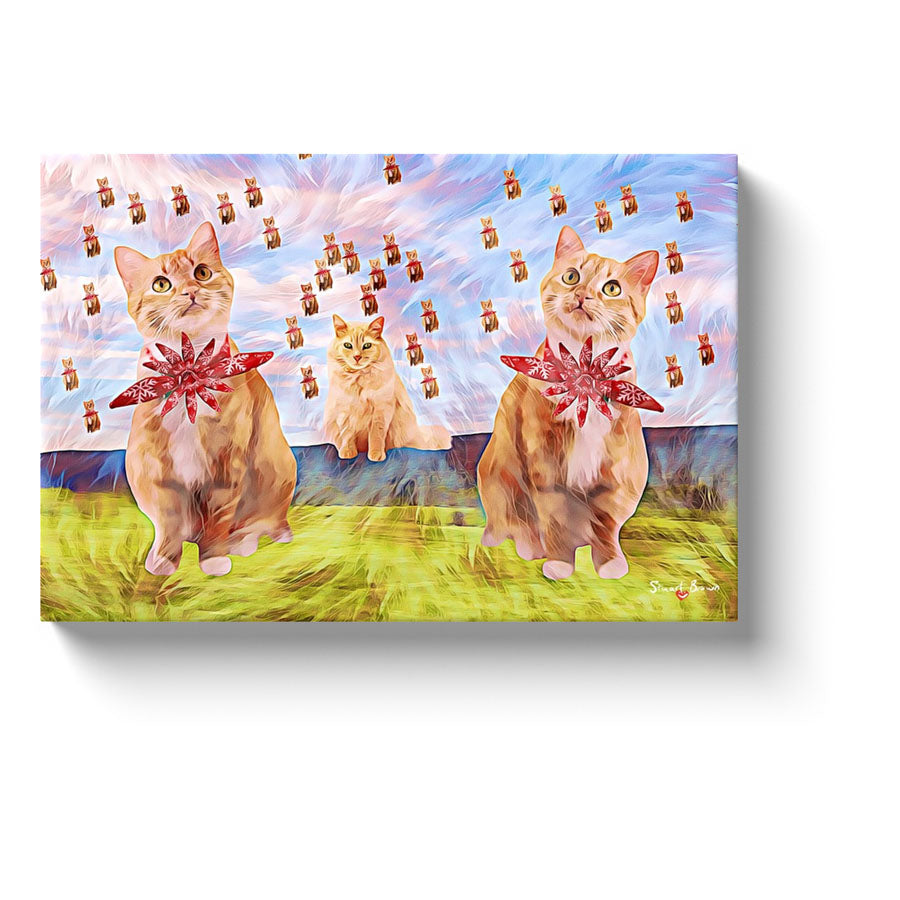 orange cats world domination canvas art print