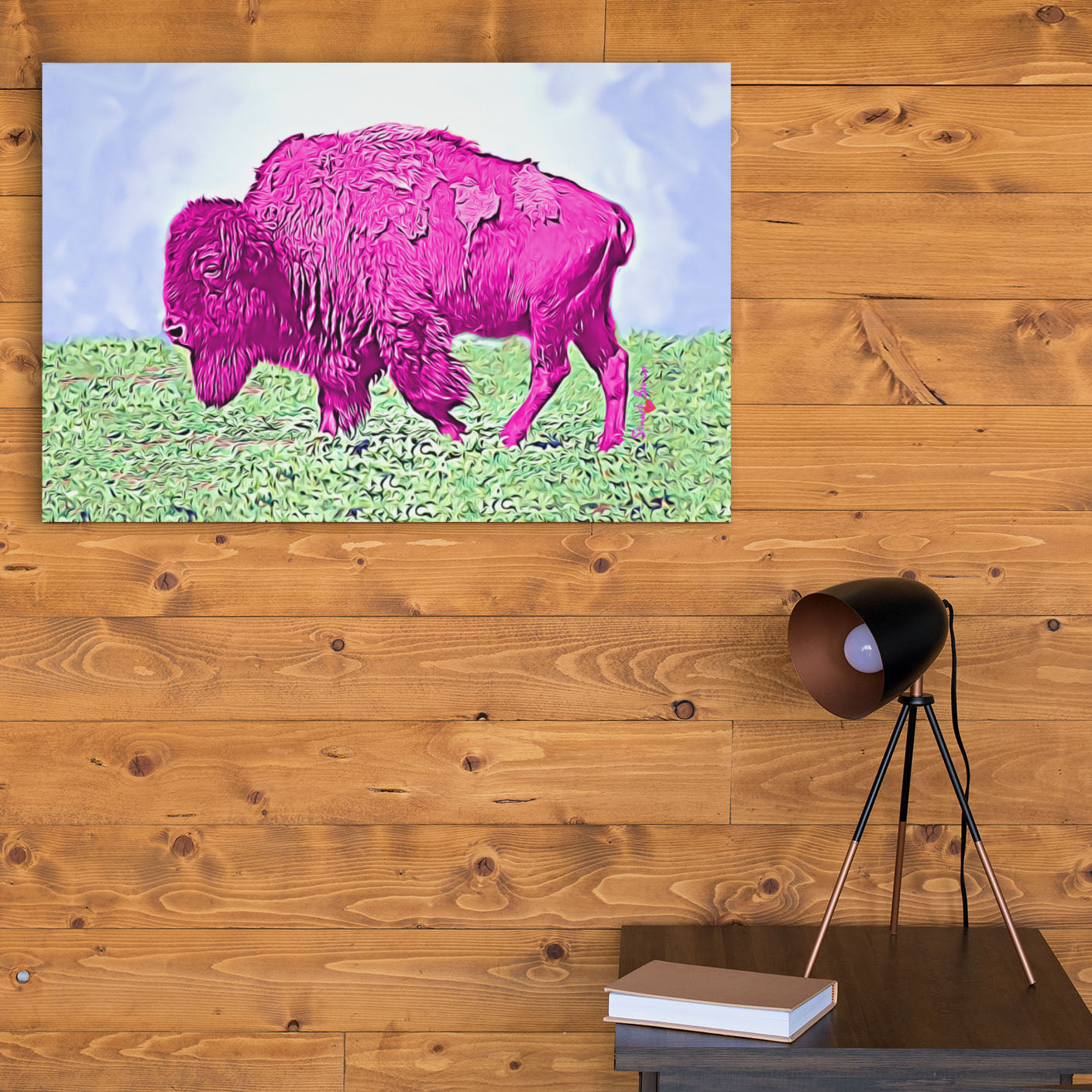 pink buffalo home decor