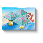 pyramid art i love myself pyramid power canvas print